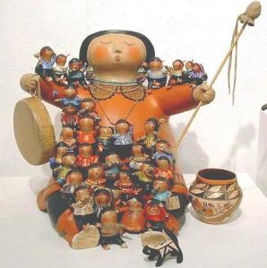 Storyteller gourd art